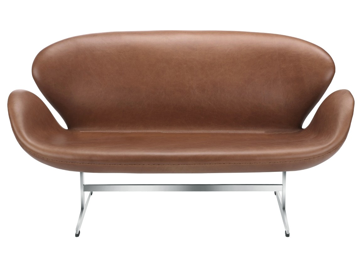 Swan Sofa By Arne Jacobsen Leather Platinum Replica
