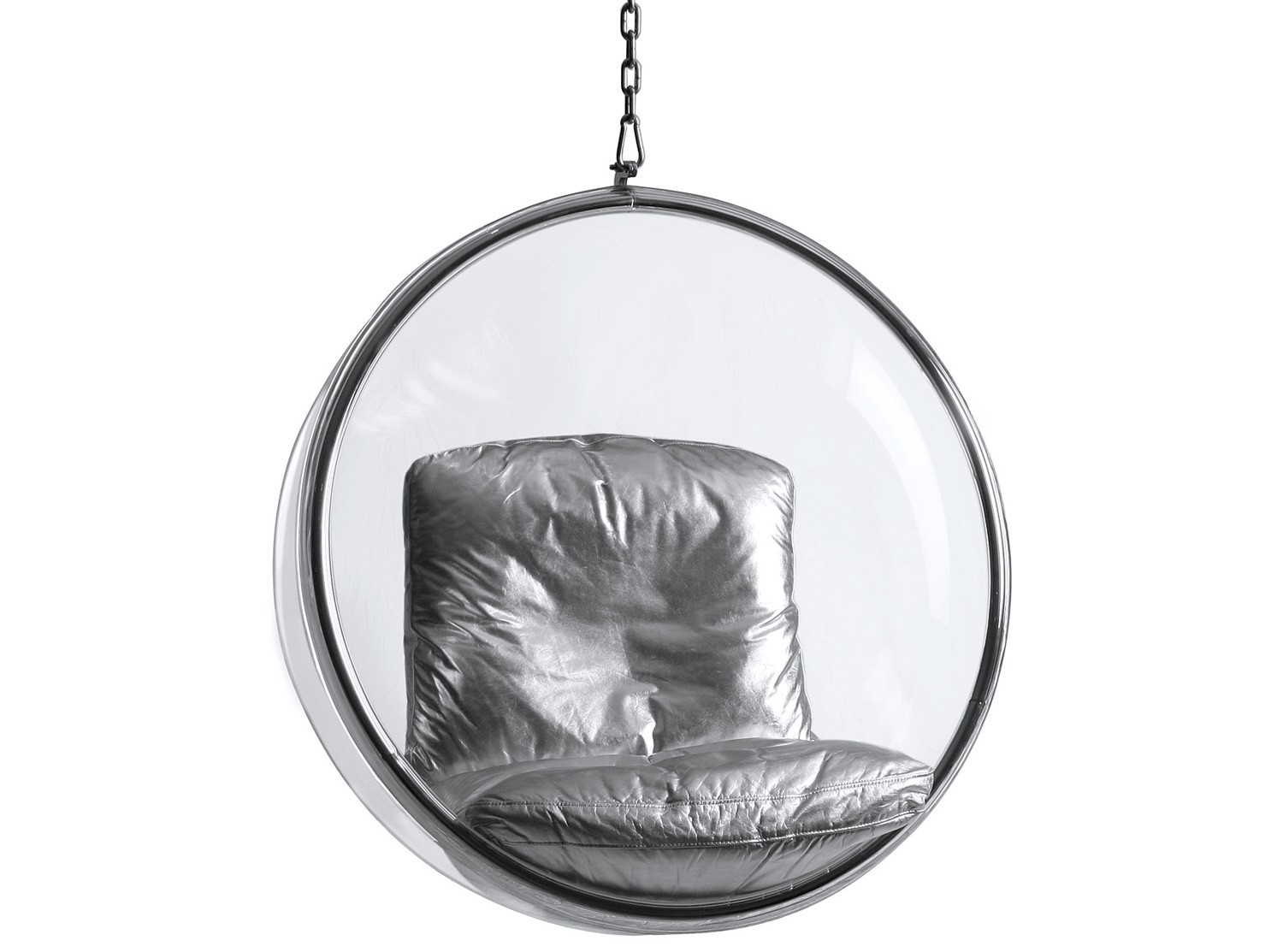 Bubble chair by eero aarnio platinum replica silver - Bubble chair replica ...