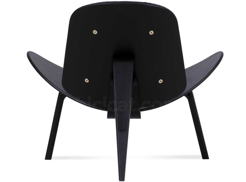 Ch07 shell chair by hans wegner cowhide platinum replica
