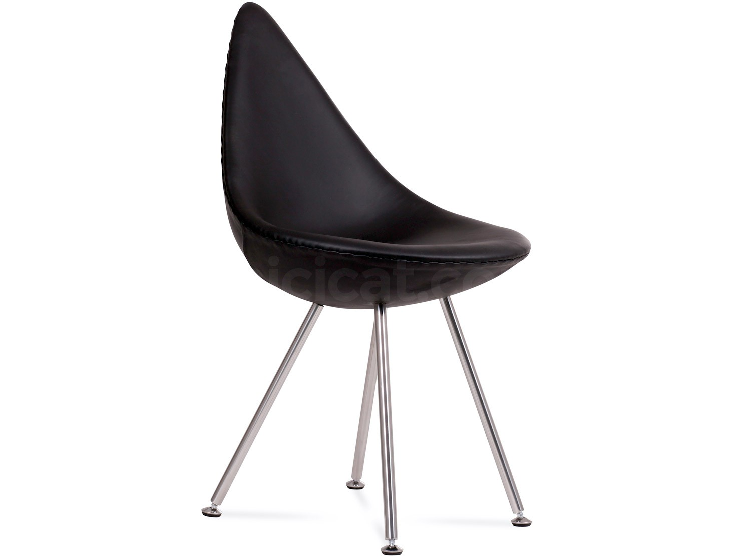 Drop Chair by Arne Jacobsen Leather Replica