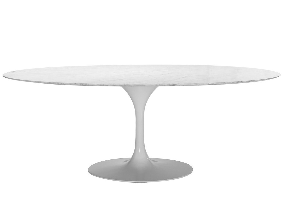 Replica oval tulip dining table by eero saarinen for Tulip dining table