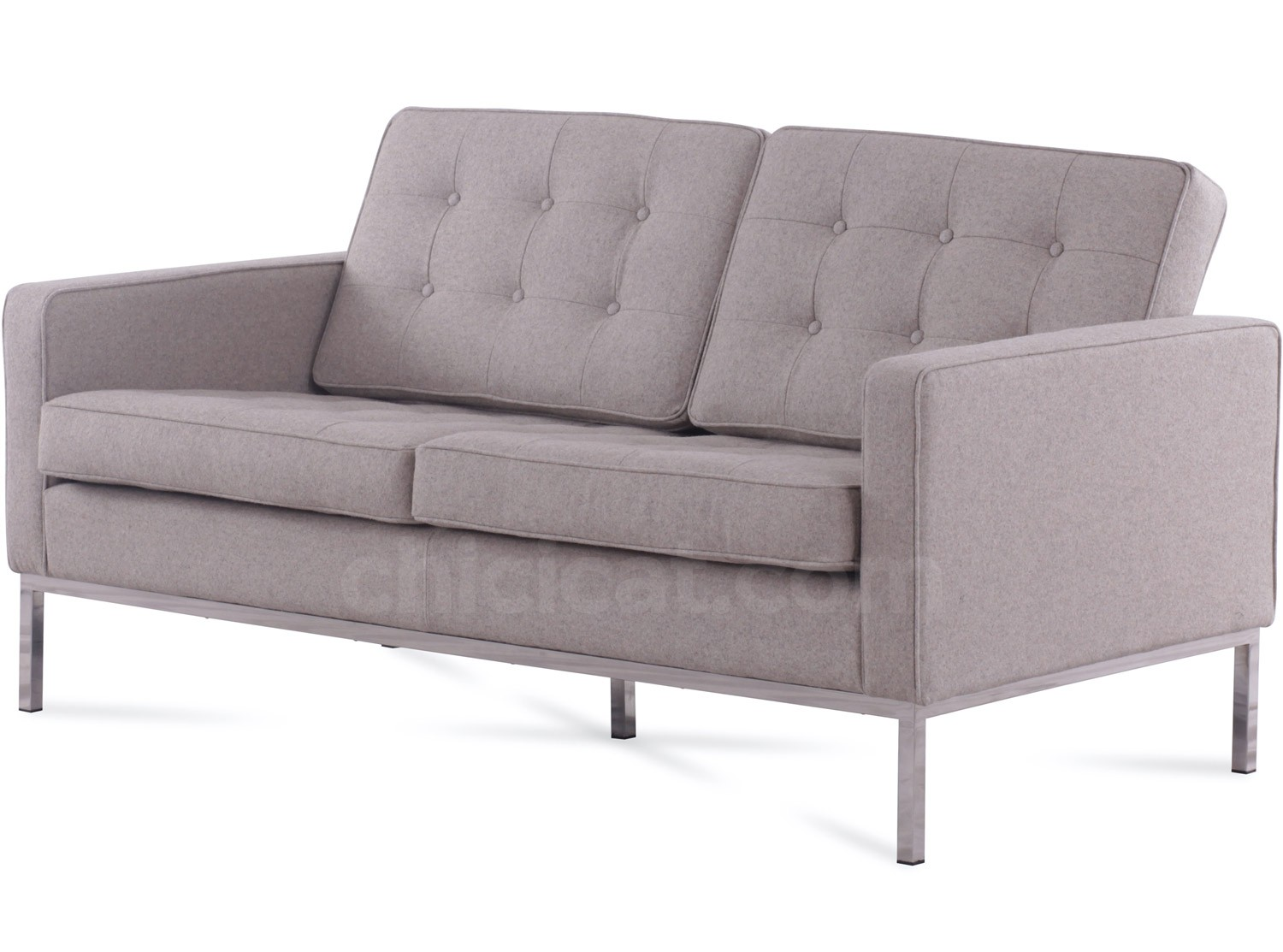 Florence Knoll Sofa 2 Seater Wool Platinum Replica