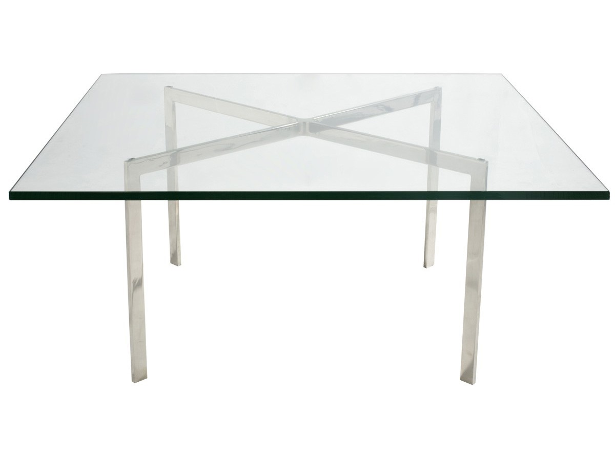 barcelona coffee table by mies van der rohe 19mm glass. Black Bedroom Furniture Sets. Home Design Ideas