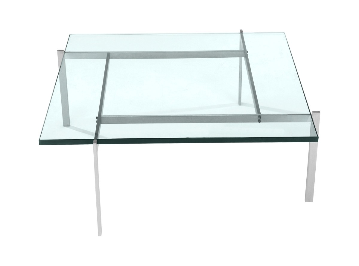 PK61 Coffee Table by Poul Kjaerholm  19mm Glass (Replica)