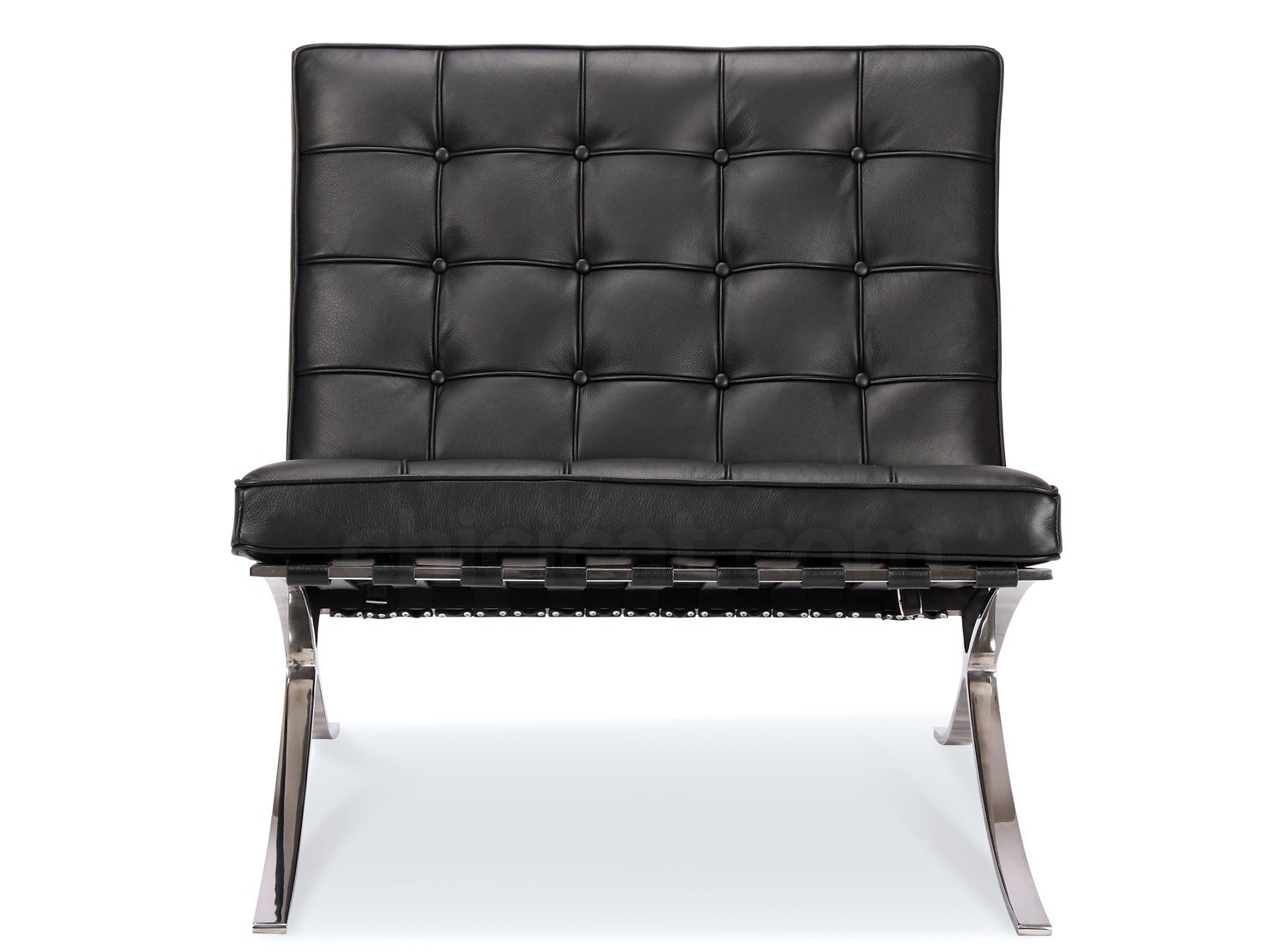 barcelona chair by mies van der rohe platinum replica. Black Bedroom Furniture Sets. Home Design Ideas