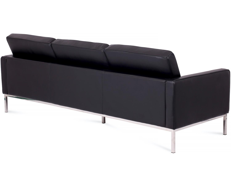 Florence Knoll Sofa 3 Seater Leather Platinum Replica