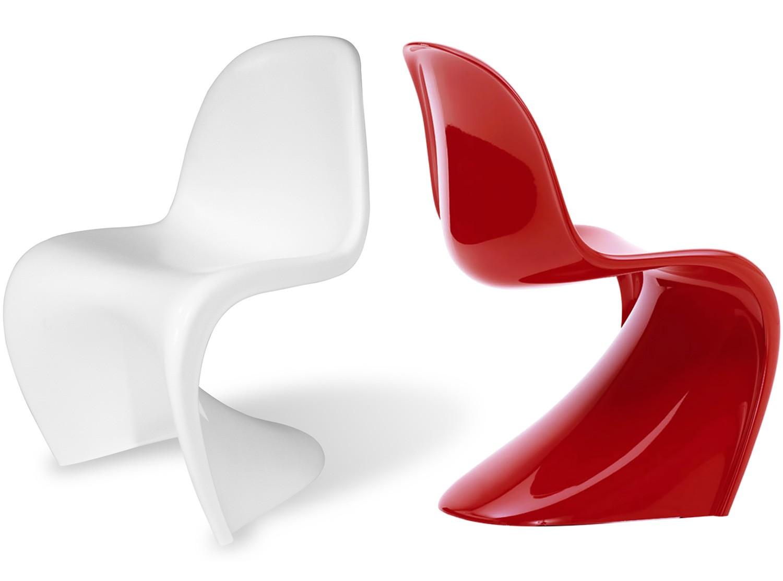 panton s chair fiberglass platinum replica. Black Bedroom Furniture Sets. Home Design Ideas