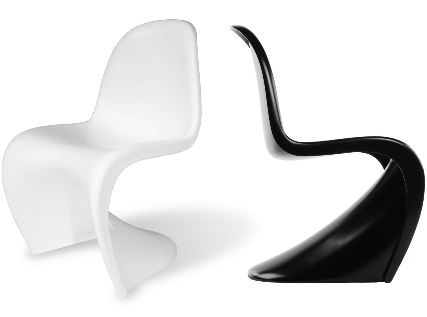 panton s chair fiberglass platinum replica. Black Bedroom Furniture Sets. Home Design Ideas