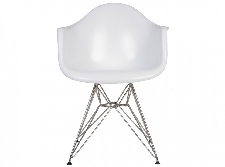 Eames DAR Armchair Fiberglass (Platinum Replica) ... Pictured in White / Matte
