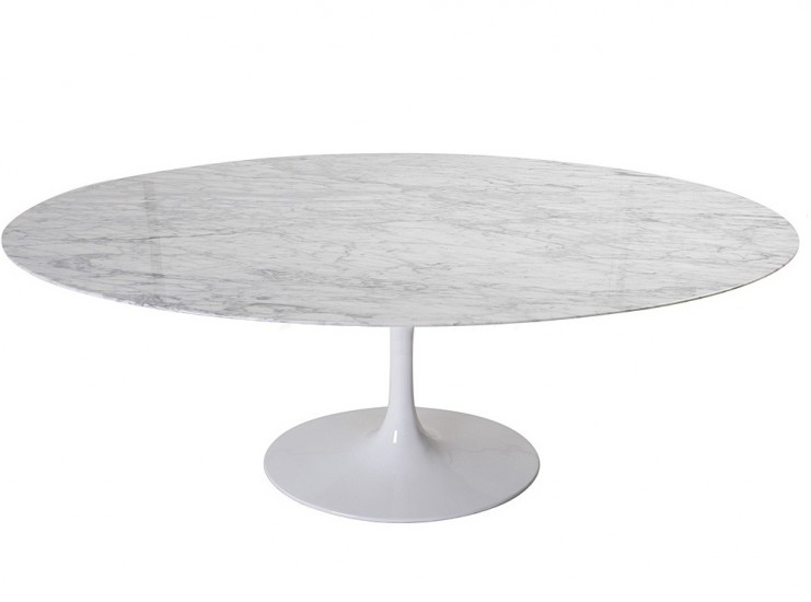 Replica Oval Tulip Dining Table By Eero Saarinen Chicicat