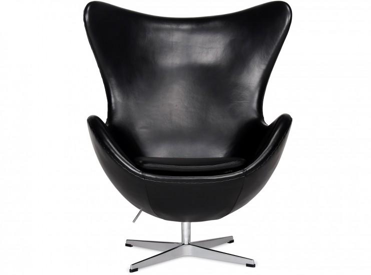 egg chair by arne jacobsen leather platinum replica. Black Bedroom Furniture Sets. Home Design Ideas