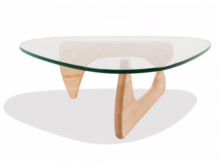 Noguchi Coffee Table - 19mm Glass (Platinum Replica)