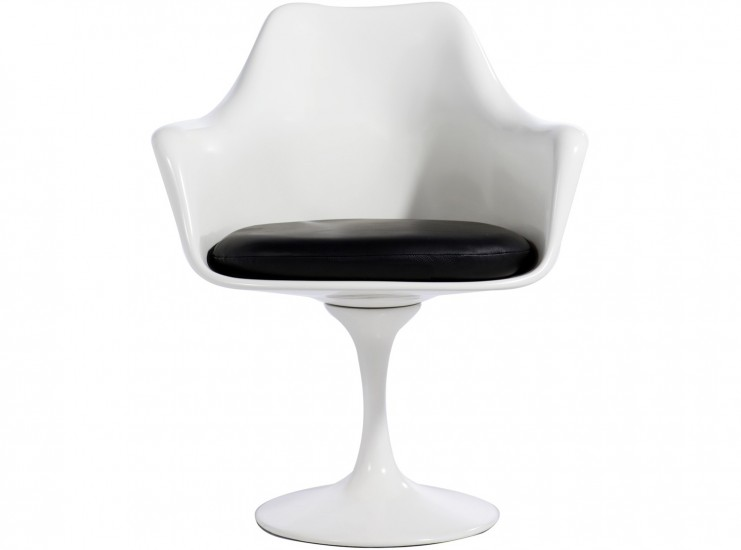 Amazing Tulip Armchair By Eero Saarinen Fibreglass (Platinum Replica)