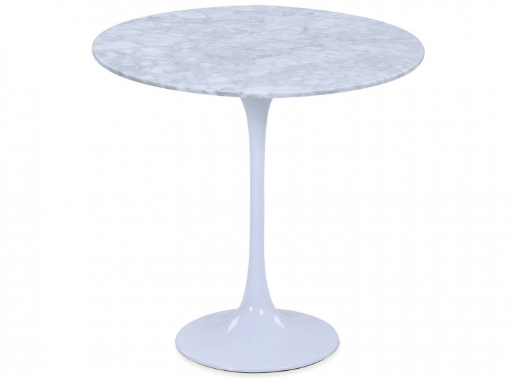 Tulip Side Table by Eero Saarinen (Platinum Replica)