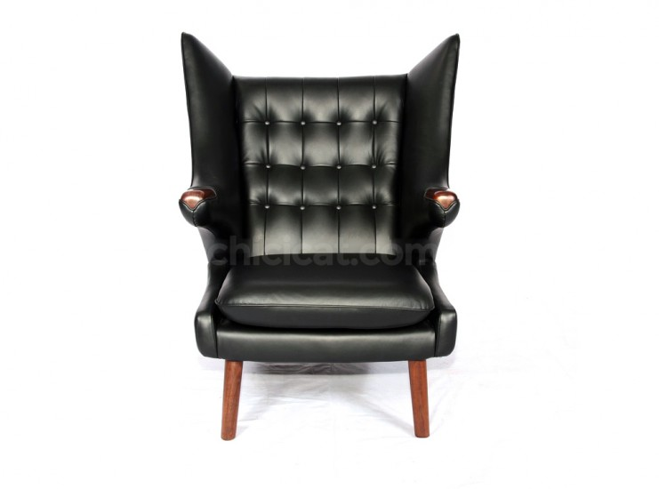 Replica Hans Wegner Papa Bear Chair - Leather