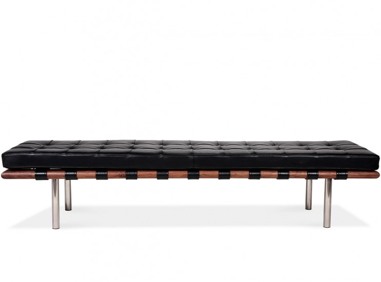 Barcelona Bench Large by Mies van der Rohe (Platinum Replica)