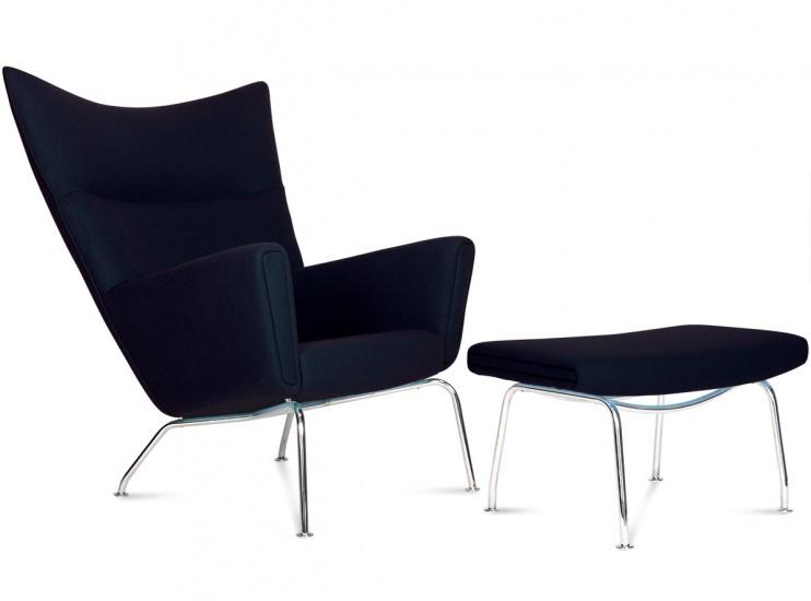 CH445 Wing Chair by Hans Wegner (Platinum Replica)