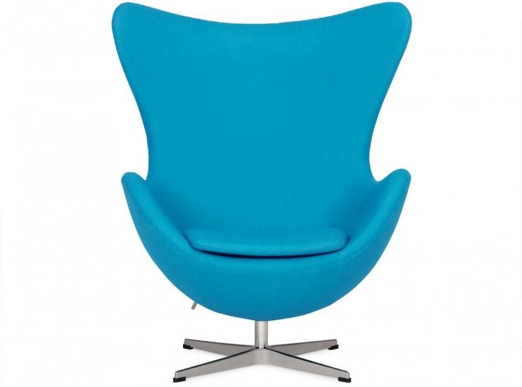 Egg Chair by Arne Jacobsen Blue (Platinum Replica)