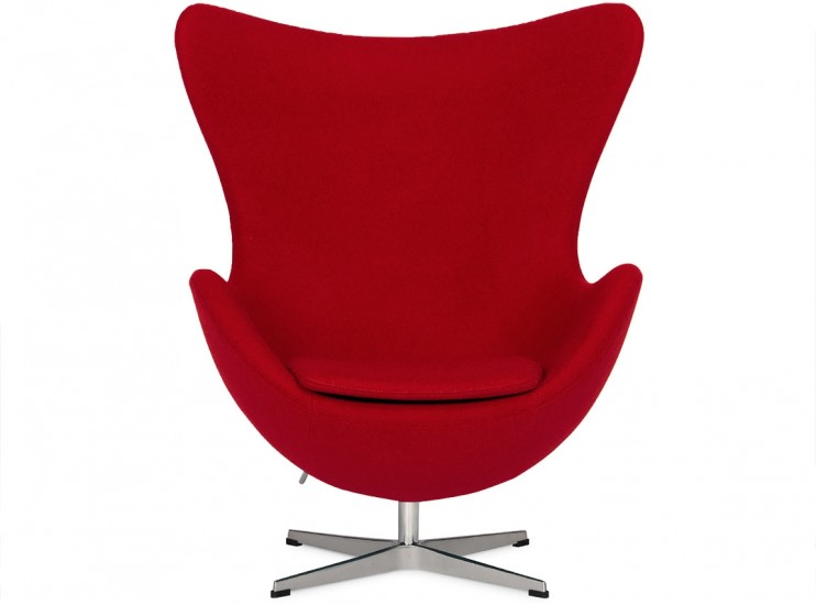 Egg Chair by Arne Jacobsen Red (Platinum Replica)