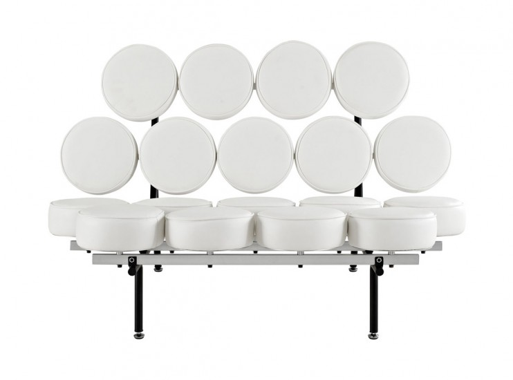 Marshmallow Sofa by George Nelson (Platinum Replica)