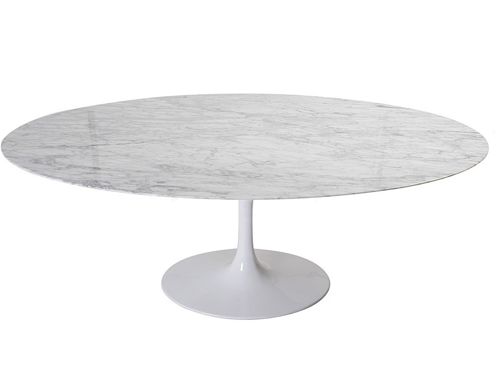 Replica oval tulip dining table by eero saarinen - Table ronde pied tulipe ...