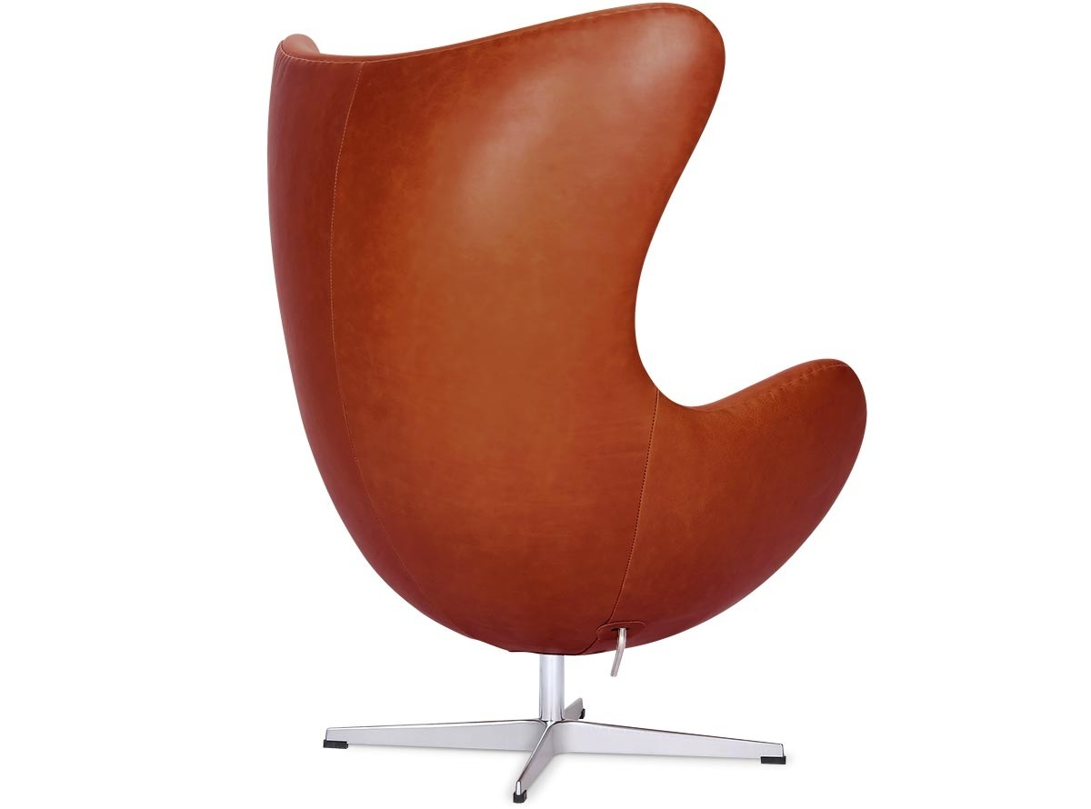 Egg chair by arne jacobsen leather platinum replica wax for Arne jacobsen stehlampe replica