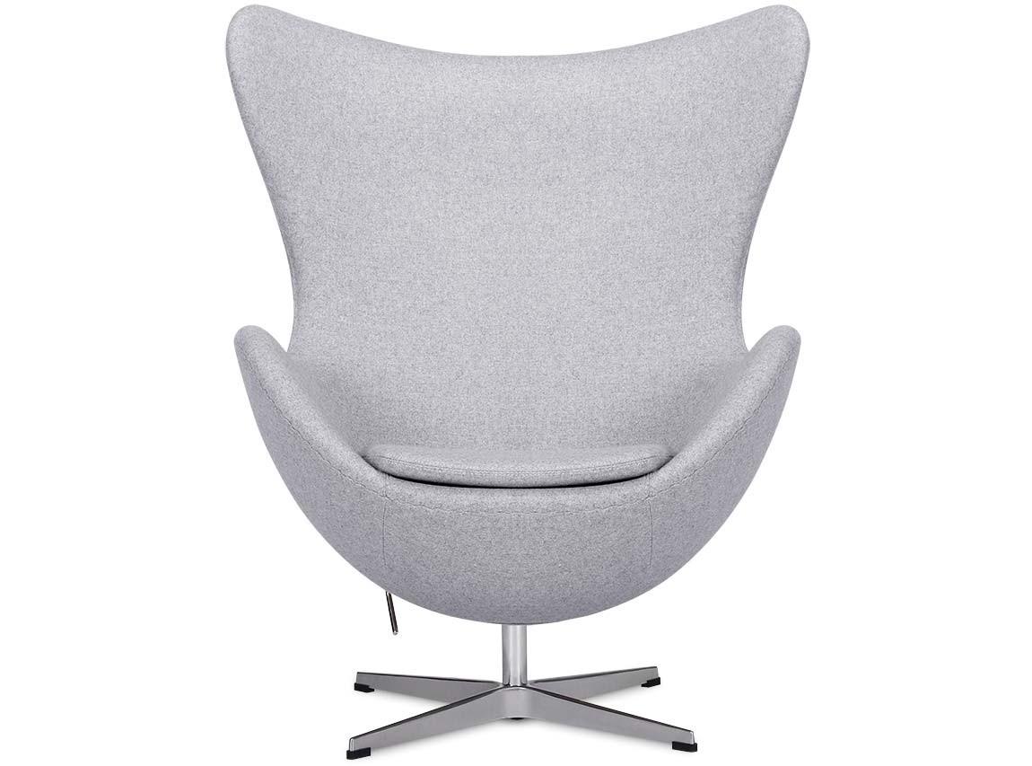 Egg chair by arne jacobsen light grey platinum replica for Egg chair replica leder