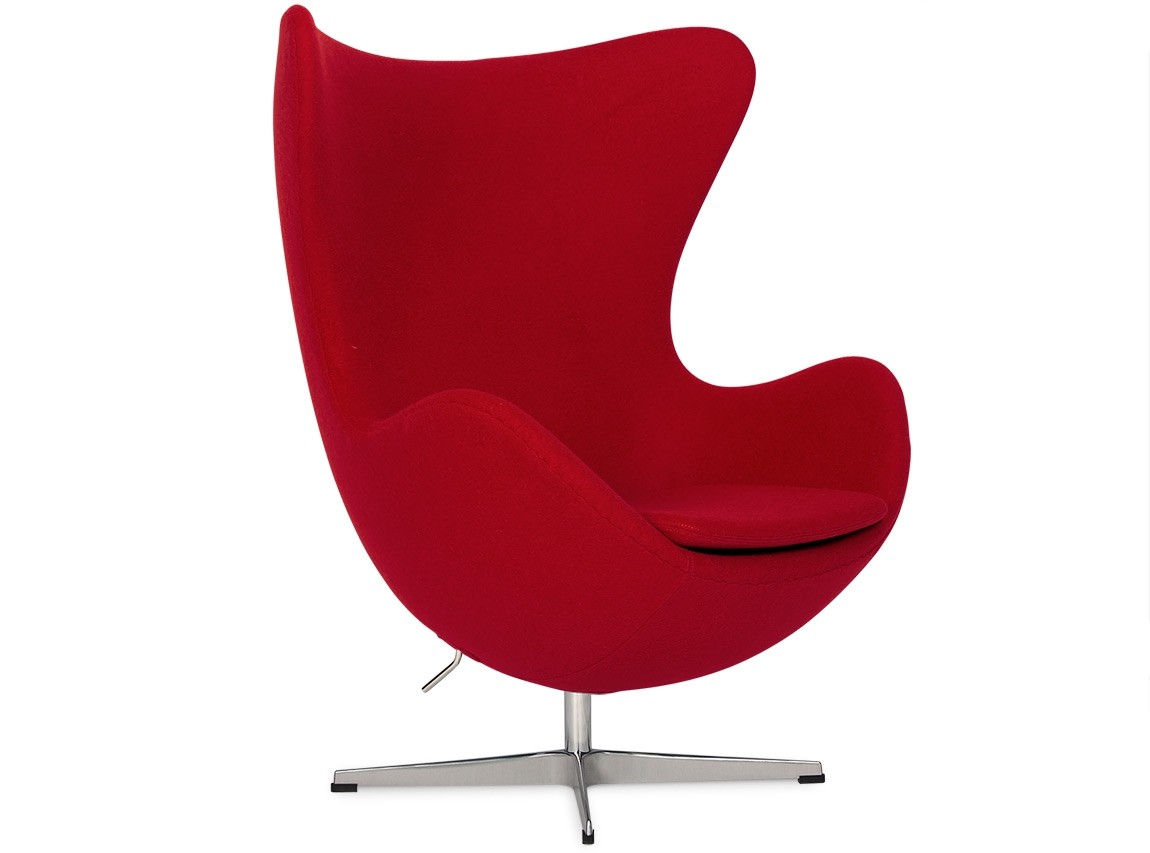 egg chair by arne jacobsen red platinum replica. Black Bedroom Furniture Sets. Home Design Ideas