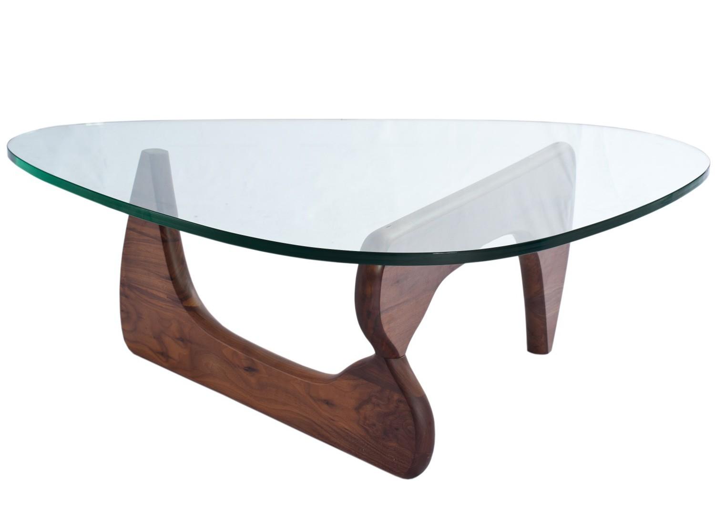 noguchi coffee table 19mm glass platinum replica. Black Bedroom Furniture Sets. Home Design Ideas