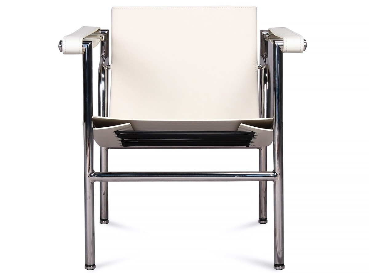 Corbusier Stoel Replica : Le corbusier lc chair platinum replica chicicat
