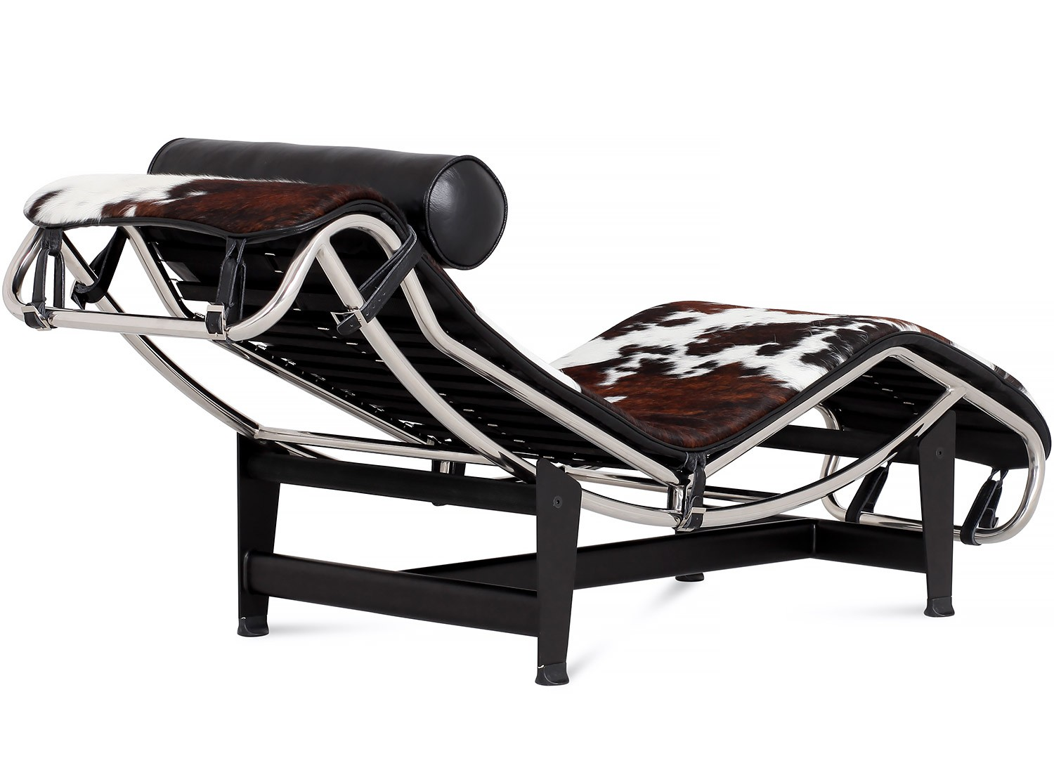 Le corbusier lc4 chaise longue cowhide platinum replica for Chaise longue lc4