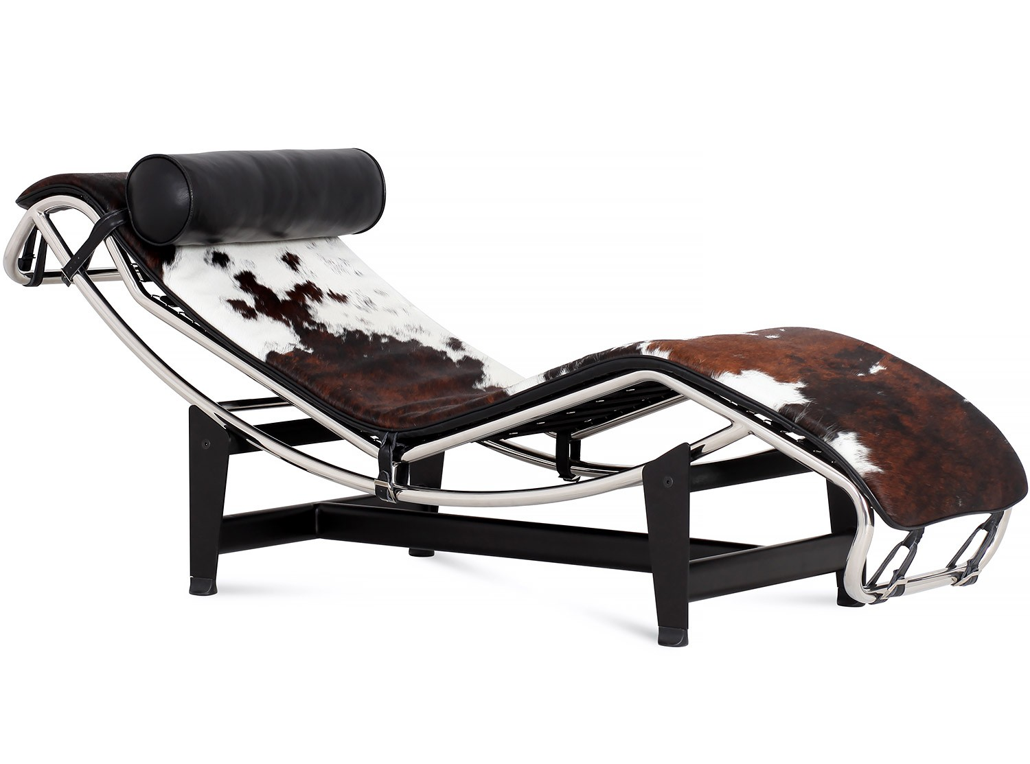 Le corbusier lc4 chaise longue cowhide platinum replica for Chaise longue carrefour