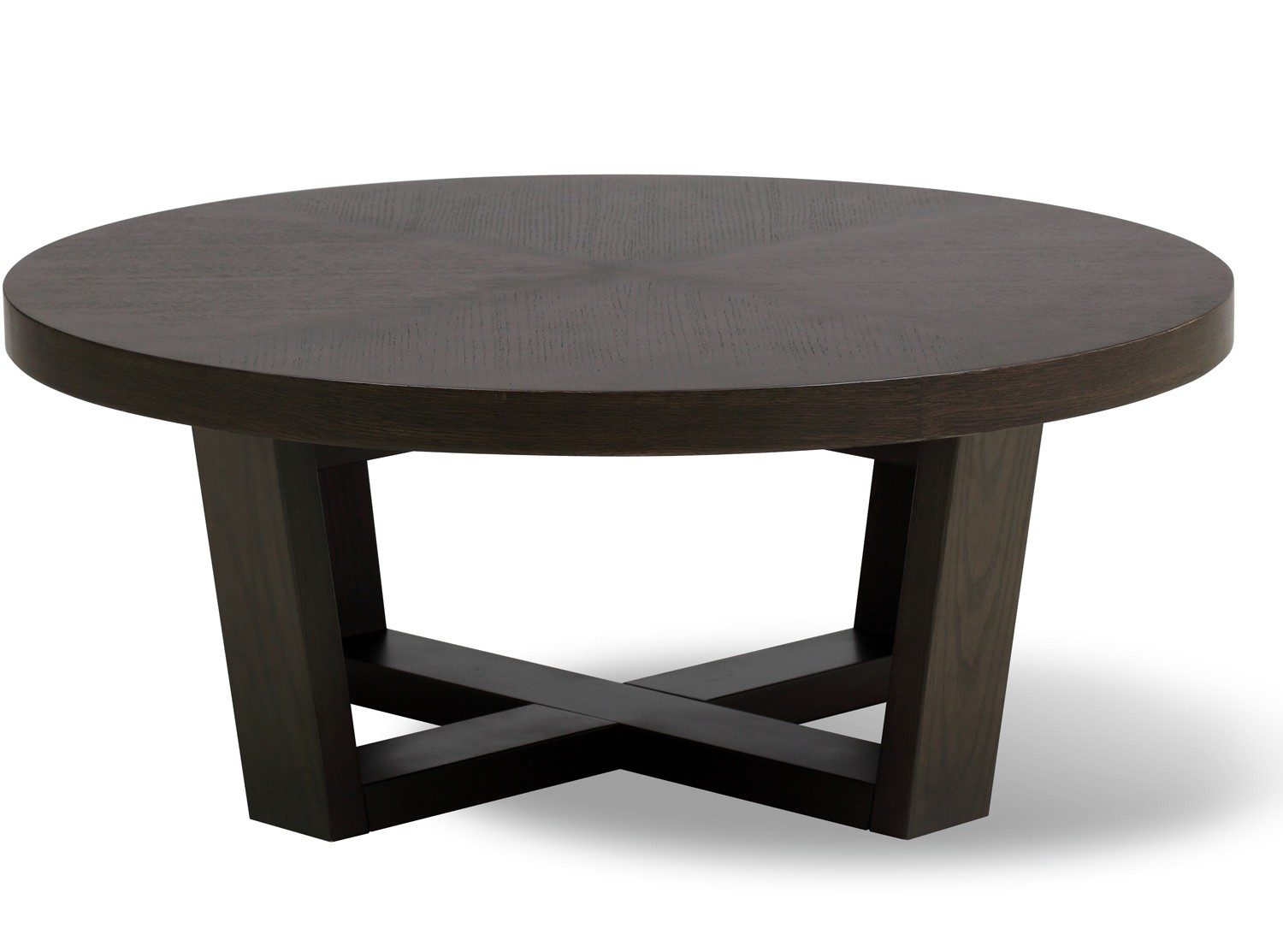Tamma round coffee table 100 cm Espresso coffee table