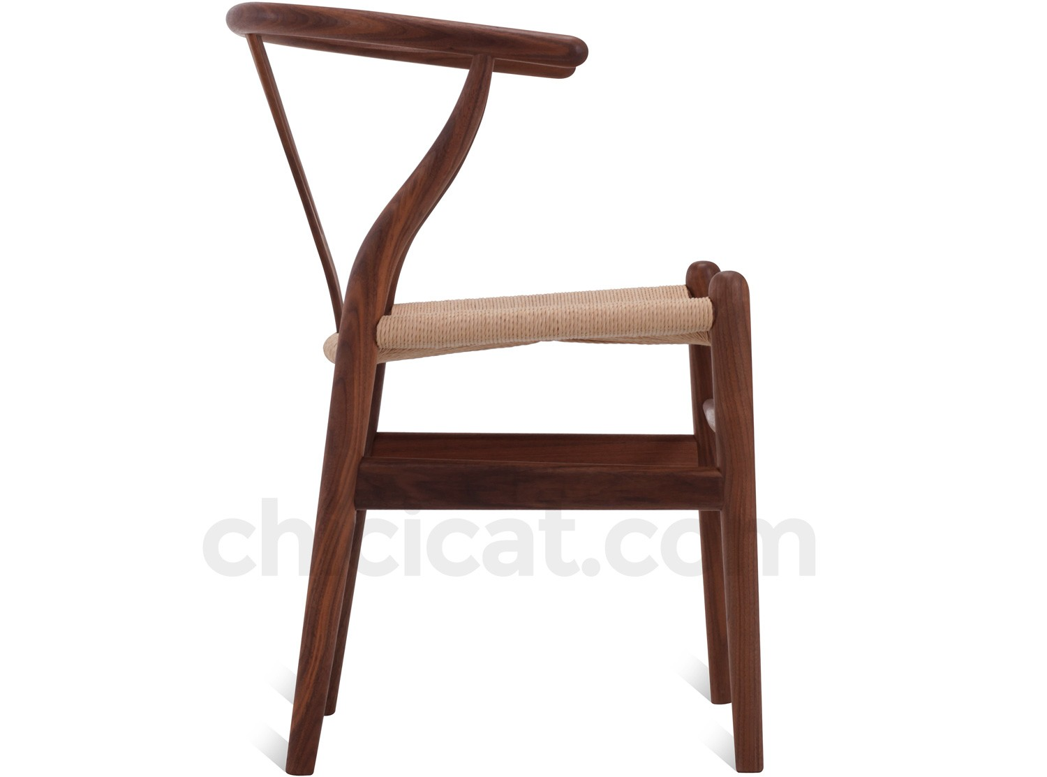 Pictured In Genuine Walnut Timber With Natural Rattan Cord