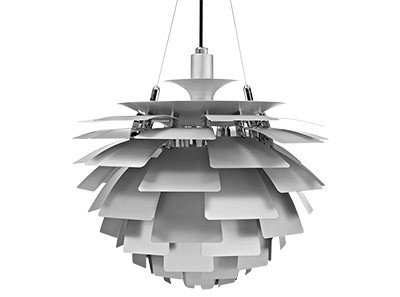 Artichoke Light 45cm by Poul Henningson (Platinum Replica)