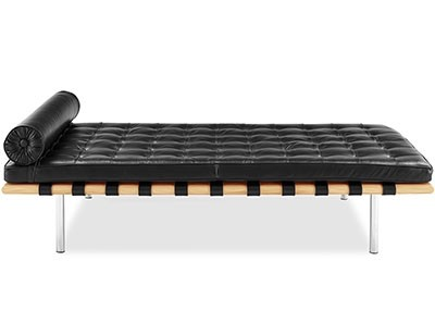 Barcelona Daybed by Mies van der Rohe (Platinum Replica)