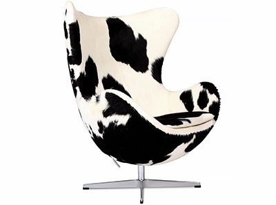 Egg Chair by Arne Jacobsen Cowhide | Platinum Replica