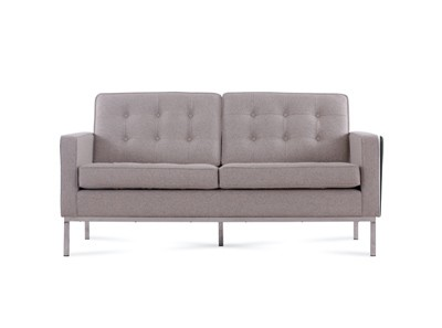 Florence Knoll Sofa 2 Seater Wool (Platinum Replica)