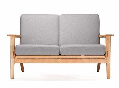 GE290 Wegner Plank Loveseat (Platinum Replica)