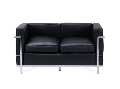 Le Corbusier LC2 Sofa 2 Seater Petit Confort (Platinum Replica)