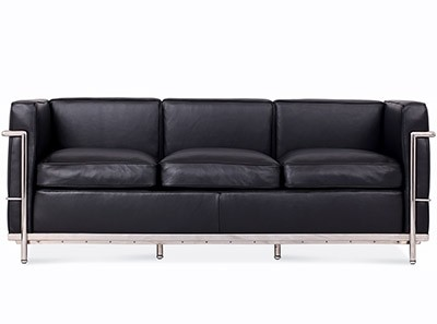Le Corbusier LC2 Sofa 3 Seater Petit Confort (Platinum Replica)