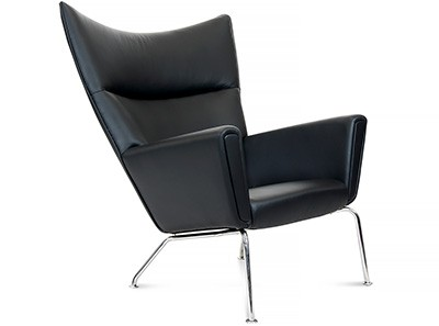 Replica CH445 Wing Chair Leather by Hans Wegner