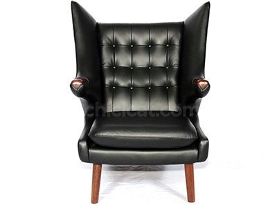 Replica Hans Wegner Papa Bear Chair - Leather