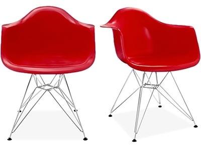 SET OF 2: Replica Eames DAR Armchairs (Fibreglass)