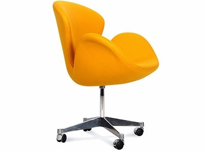 Swan Desk Chair by Arne Jacobsen (Platinum Replica)