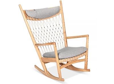 Wegner Net Rocking Chair   Platinum Replica