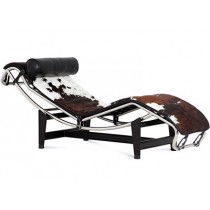 Le Corbusier LC4 Chaise Longue Cowhide (Platinum Replica)