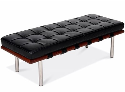 Barcelona Bench Small by Mies van der Rohe (Platinum Replica)
