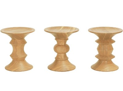 Replica Charles E. Walnut Stools - Set of 3 | Collector