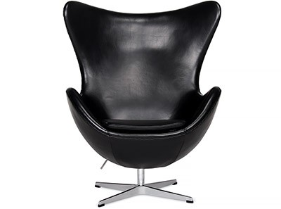 Egg Chair by Arne Jacobsen Leather (Platinum Replica)
